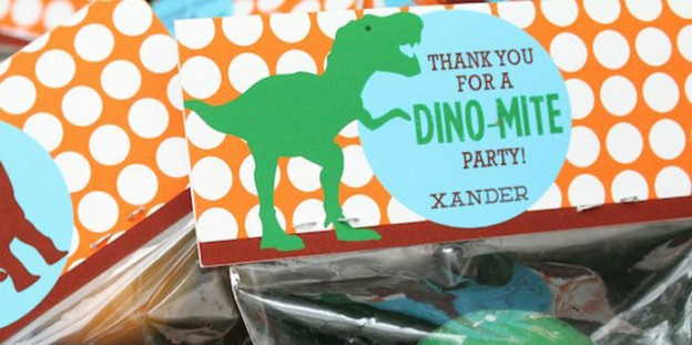Favors from a Jurassic Dino Hunt Dinosaur Birthday Party via Kara's Party Ideas | KarasPartyIdeas.com (1)