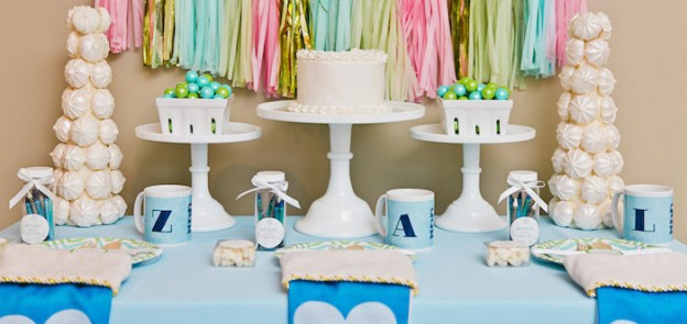 Sweet Table from a Kids Christmas Coloring Ombre Party via Kara's Party Ideas | KarasPartyIdeas.com (2)