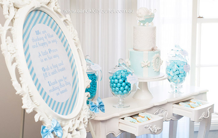 Baby Shower Sweet Table Ideas gorgeous girl baby shower dessert tables Baby Shower Sweet Table Ideas How To Set Up A Candy Buffet Step By Step Instructions