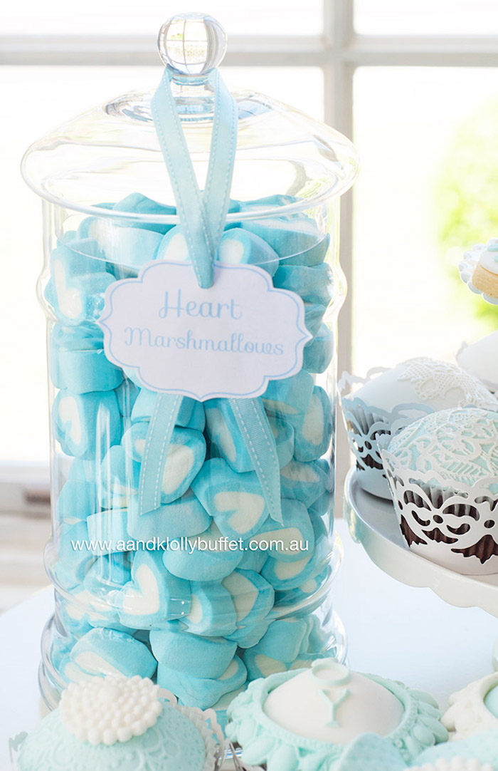 Kara 39 s party ideas heart marshmallows from a little prince for A new little prince baby shower decoration kit