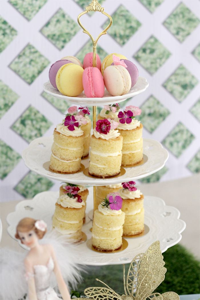 Secret Garden: Kara's Party Ideas Mini Stacked Cakes + Macarons From A