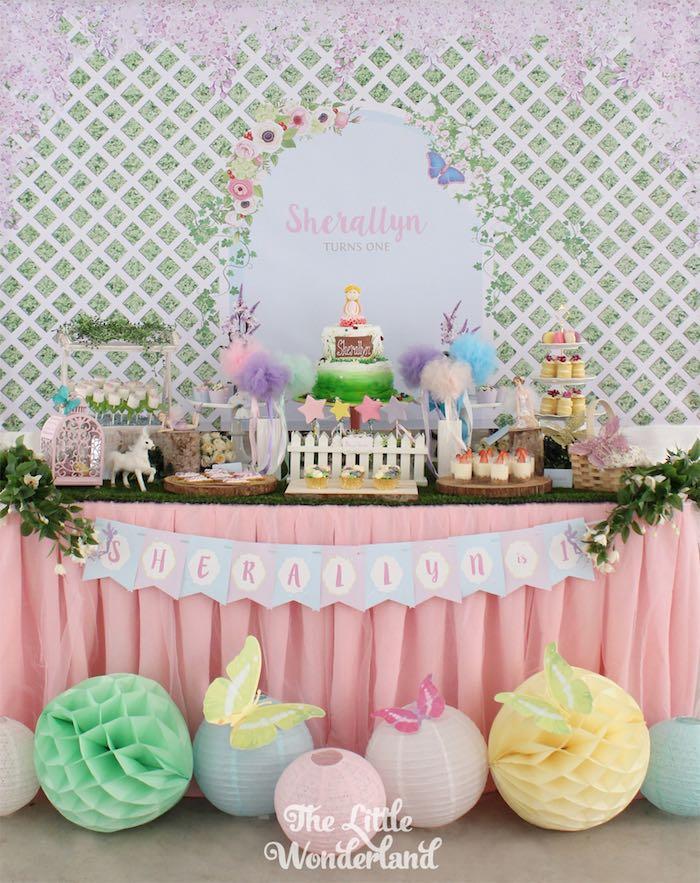 Secret Garden: Kara's Party Ideas Dessert Table From A Magical Secret