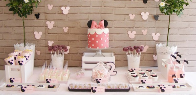 Dessert Table from a Minnie Mouse Birthday Party via Kara's Party Ideas | KarasPartyIdeas.com (1)