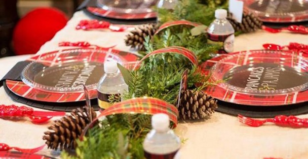 Dining Tablescape from a Pancakes & Pajamas Holiday Party via Kara's Party Ideas | KarasPartyIdeas.com (1)