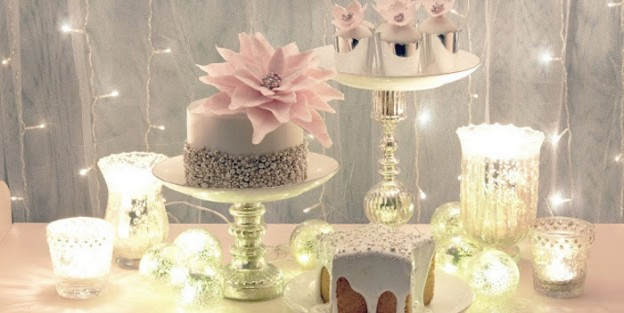 Cakes + Cupcakes + Decor from a Pastel Winter Wonderland Holiday Party via Kara's Party Ideas | KarasPartyIdeas.com (4)