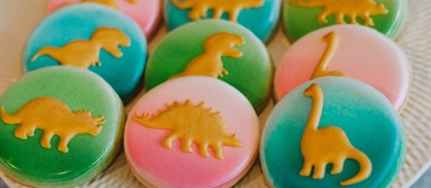 Sugar Cookies from a Rainbow Dinosaur Birthday Party via Kara's Party Ideas | KarasPartyIdeas.com (1)