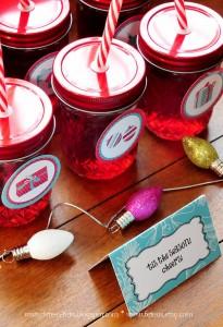 Drink Jars from a Retro Playful Christmas Party via Kara's Party Ideas | KarasPartyIdeas.com (12)