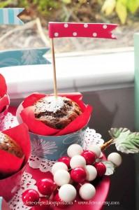 Muffin from a Retro Playful Christmas Party via Kara's Party Ideas | KarasPartyIdeas.com (10)