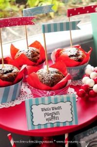 Muffins from a Retro Playful Christmas Party via Kara's Party Ideas   KarasPartyIdeas.com (9)