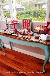 Sweet Table from a Retro Playful Christmas Party via Kara's Party Ideas | KarasPartyIdeas.com (4)