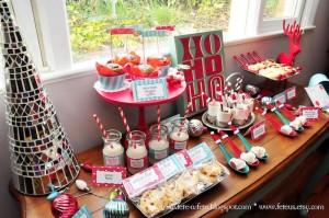Sweet Table from a Retro Playful Christmas Party via Kara's Party Ideas | KarasPartyIdeas.com (3)