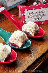 Truffles Placed in Spoons from a Retro Playful Christmas Party via Kara's Party Ideas | KarasPartyIdeas.com (17)