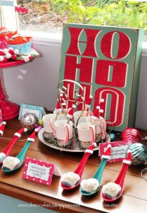 Hot Cocoa & Truffles from a Retro Playful Christmas Party via Kara's Party Ideas | KarasPartyIdeas.com (16)