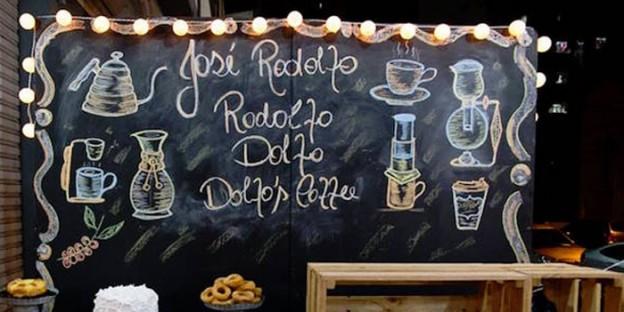 Chalkboard Backdrop from a Rustic Tea + Coffee Shop Birthday Party via Kara's Party Ideas | KarasPartyIdeas.com (1)