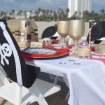 Dining Table from a Seaside Pirate Themed Birthday Party via Kara's Party Ideas KarasPartyIdeas.com (1)