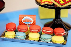 Macarons from a Superhero Birthday Party via Kara's Party Ideas KarasPartyIdeas. com (13)