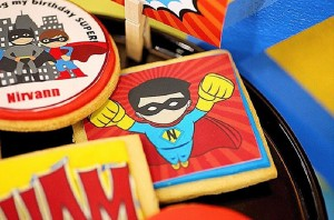 Cookies from a Superhero Birthday Party via Kara's Party Ideas KarasPartyIdeas. com (5)