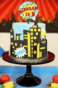Cake from a Superhero Birthday Party via Kara's Party Ideas KarasPartyIdeas. com (4)