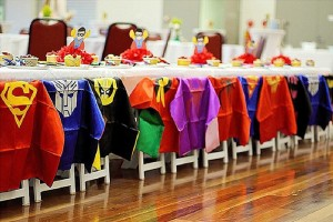 Dining Table from a Superhero Birthday Party via Kara's Party Ideas KarasPartyIdeas. com (21)