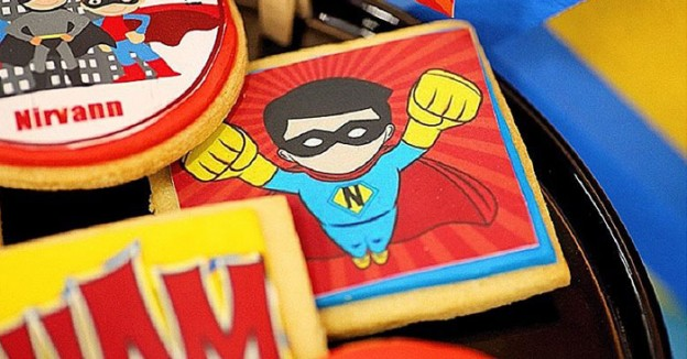 Cookies from a Superhero Birthday Party via Kara's Party Ideas KarasPartyIdeas. com (1)