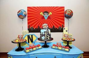 Sweet Table from a Superhero Birthday Party via Kara's Party Ideas KarasPartyIdeas. com (17)