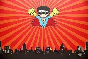 Backdrop from a Superhero Birthday Party via Kara's Party Ideas KarasPartyIdeas. com (16)