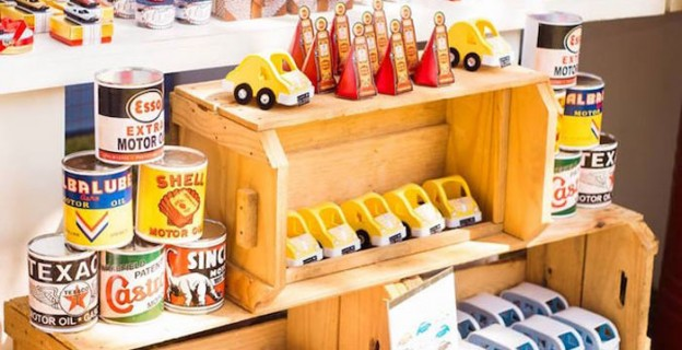 Sweets + Decor + Favors from a Vintage Car Party via Kara's Party Ideas | KarasPartyIdeas.com (2)
