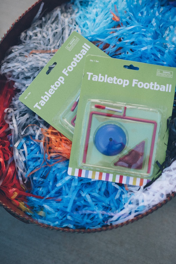 Tabletop Football Favors from a 4th & 40th Combined Football Themed Birthday Party via Kara's Party Ideas! KarasPartyIdeas.com (8)