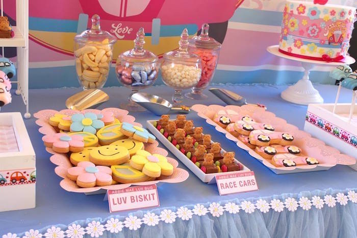 Kara 39 s party ideas sweets from a 60 39 s vw love bug themed for 60 s decoration ideas