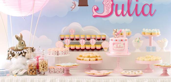 Kara S Party Ideas Belle Amp Boo Bunny Hot Air Balloon