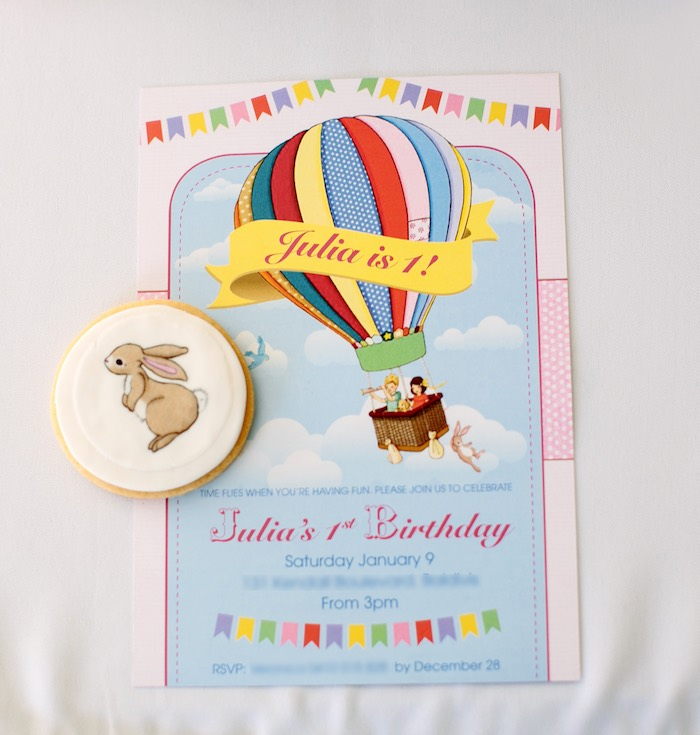 Hot Air Balloon Invitations With Photo - Life Style By Modernstork.com