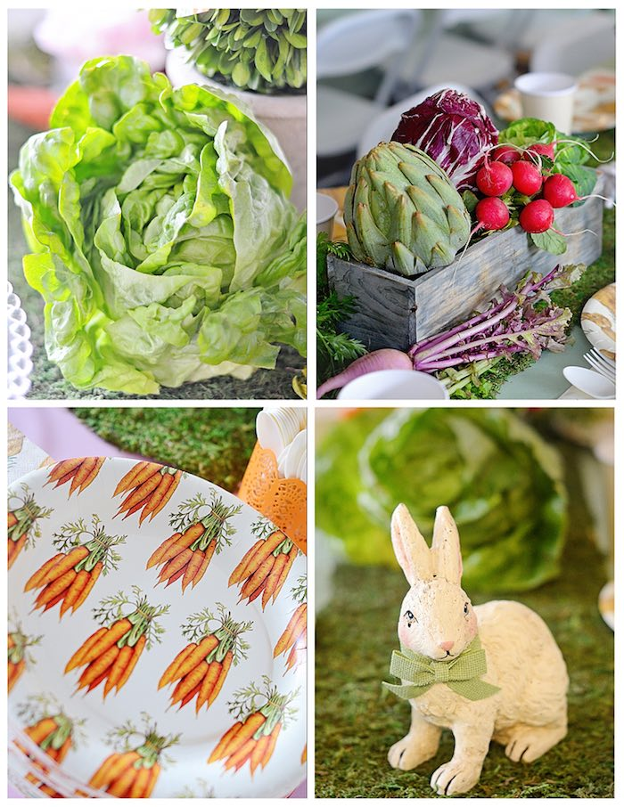 Decor/Centerpieces + Plates from a Bunny Birthday Party via Kara's Party Ideas | KarasPartyIdeas.com (16)