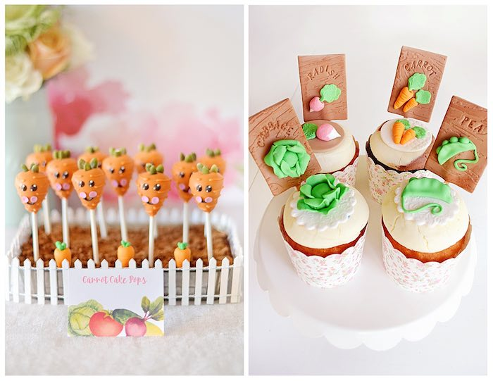 Carrot Cake Pops + Garden Cupcakes from a Bunny Birthday Party via Kara's Party Ideas | KarasPartyIdeas.com (24)