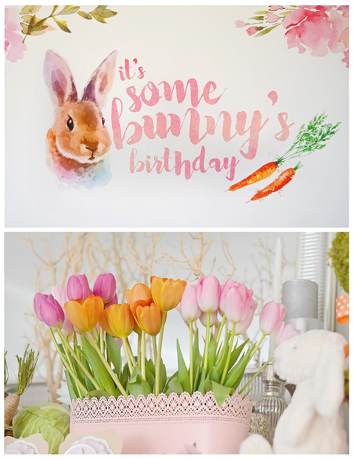 Kara S Party Ideas Bunny Birthday Party Kara S Party Ideas