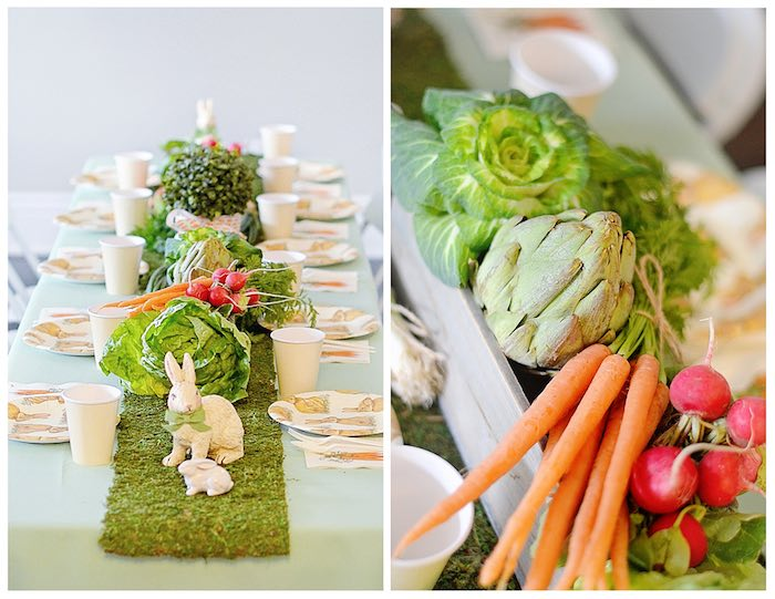 Dining Tablescape from a Bunny Birthday Party via Kara's Party Ideas | KarasPartyIdeas.com (19)