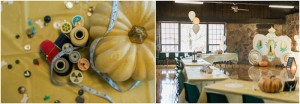 Pumpkin Centerpiece + Partyscape from a Cinderella Birthday Party via Kara's Party Ideas! KarasPartyIdeas.com (7)