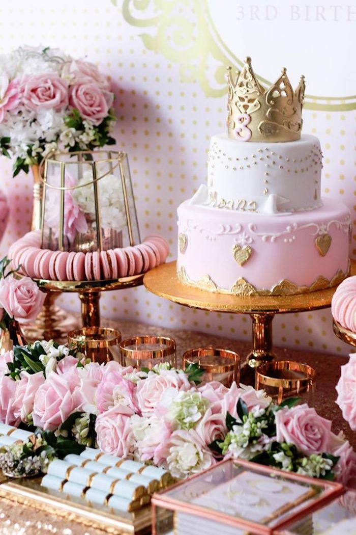 Karas Party Ideas Copper Pink Gold Princess Party Karas Party