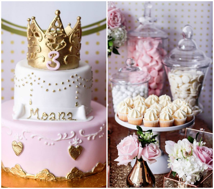 Copper, Pink & Gold Princess Party via Kara's Party Ideas | KarasPartyIdeas.com (3)