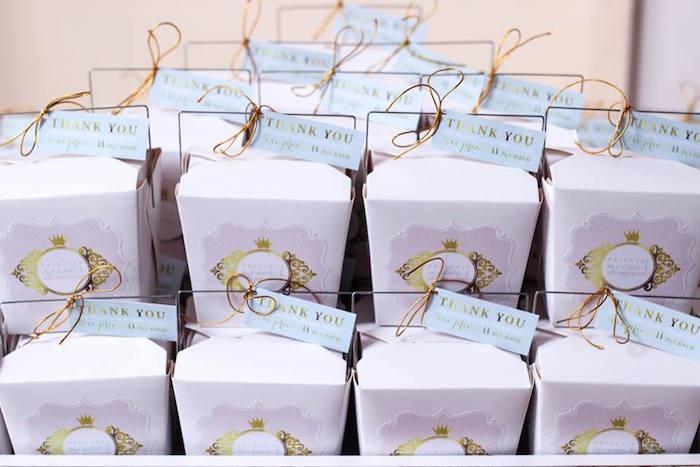 Favor Boxes from a Copper, Pink & Gold Princess Party via Kara's Party Ideas | KarasPartyIdeas.com (29)