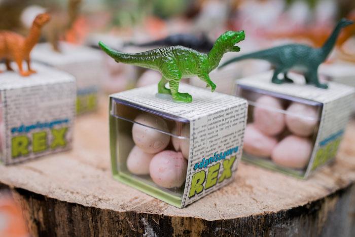 Egg Favors From A Dinosaur Birthday Party Via Karas Ideas