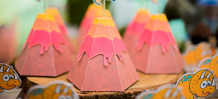 Volcano Favors from a Dinosaur Birthday Party via Kara's Party Ideas | KarasPartyIdeas.com (2)