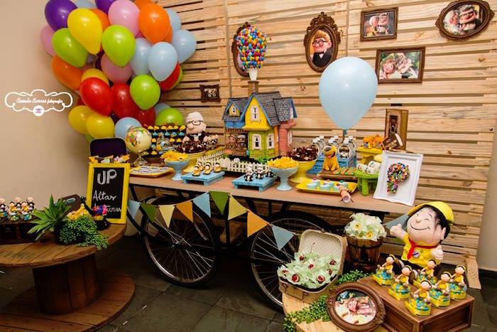 Dessert Table from a Disney's Up Inspired Birthday Party via Kara's Party Ideas! KarasPartyIdeas.com (12)