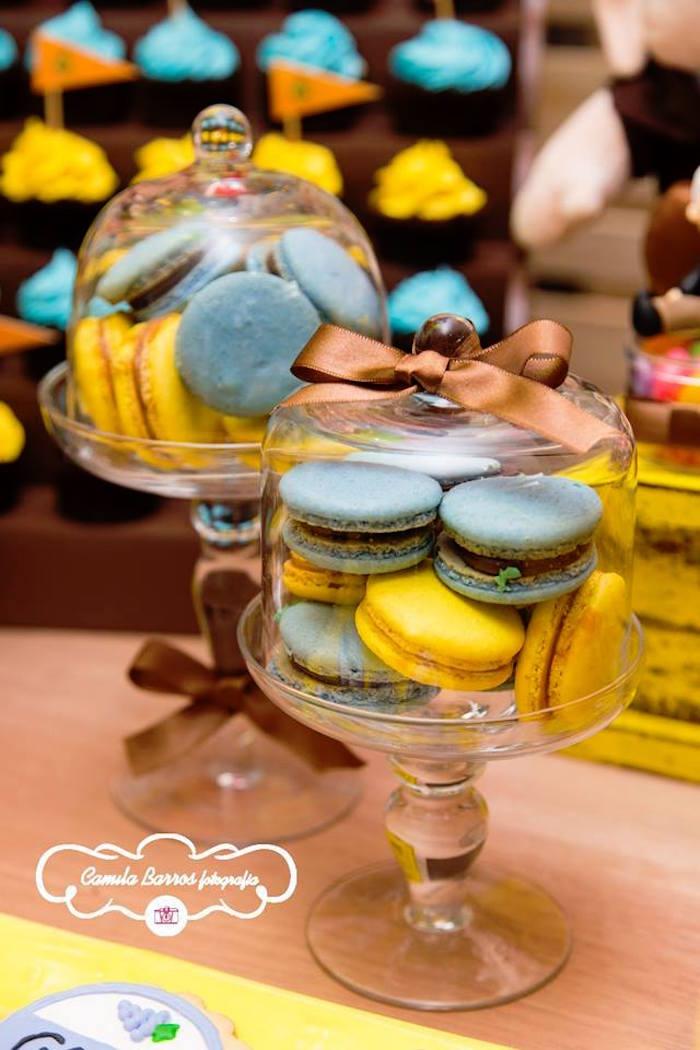 Macarons from a Disney's Up Inspired Birthday Party via Kara's Party Ideas! KarasPartyIdeas.com (7)