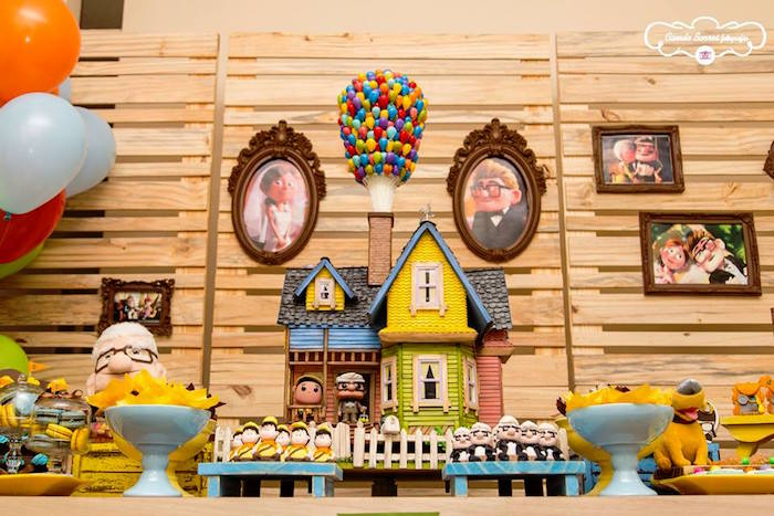 Close-up shot of a Sweet Table from a Disney's Up Inspired Birthday Party via Kara's Party Ideas! KarasPartyIdeas.com (5)