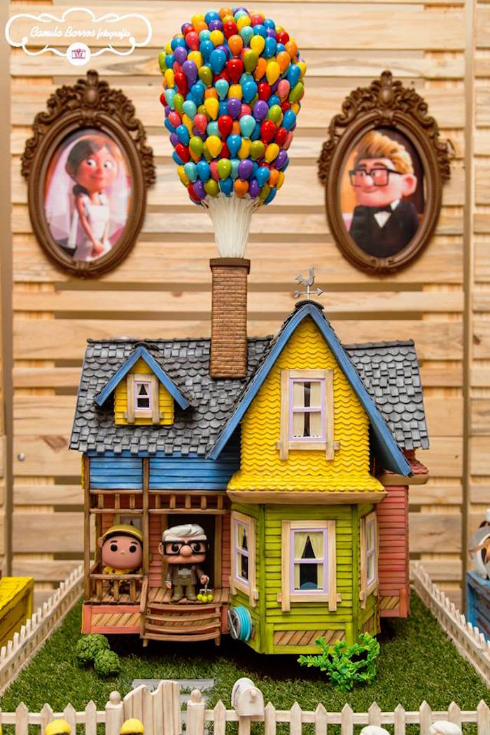 Cake from a Disney's Up Inspired Birthday Party via Kara's Party Ideas! KarasPartyIdeas.com (2)