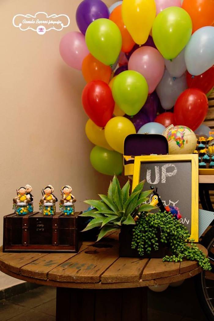 Party Decor + Display from a Disney's Up Inspired Birthday Party via Kara's Party Ideas! KarasPartyIdeas.com (17)