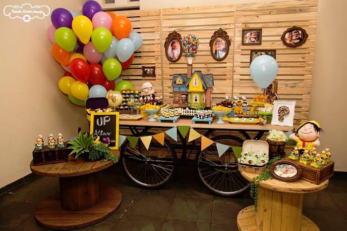 Party Display from a Disney's Up Inspired Birthday Party via Kara's Party Ideas! KarasPartyIdeas.com (15)