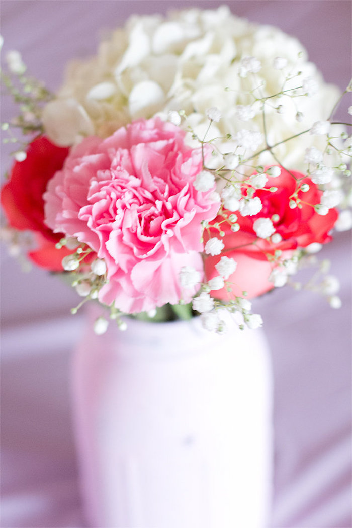Florals from an Elegant Princess Baby Shower via Kara's Party Ideas | KarasPartyIdeas.com (12)