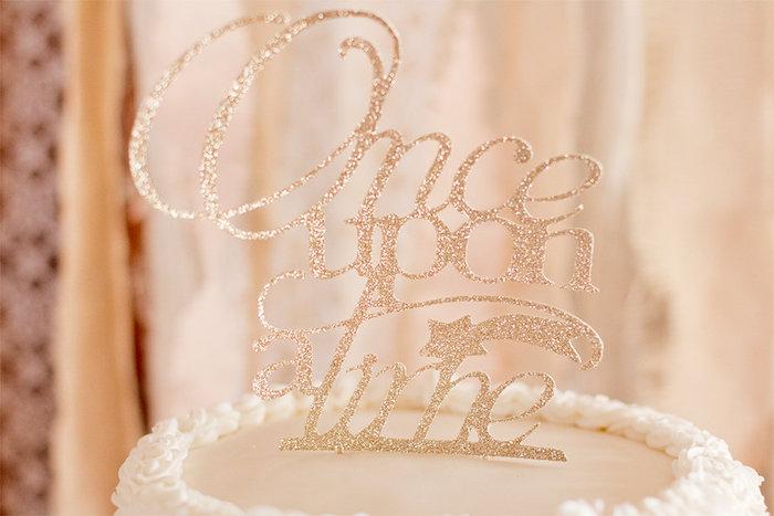 Cake Topper from an Elegant Princess Baby Shower via Kara's Party Ideas | KarasPartyIdeas.com (21)