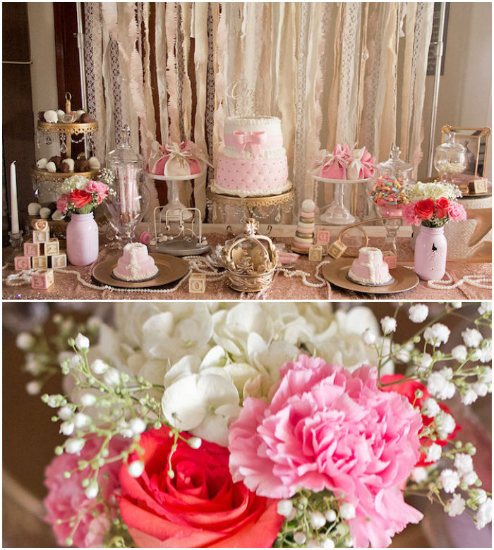 Kara's Party Ideas Elegant Baby Shower | Kara's Party Ideas